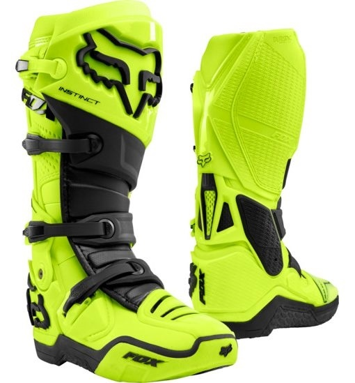boty Fox Racing Instinct  Fluo Yellow